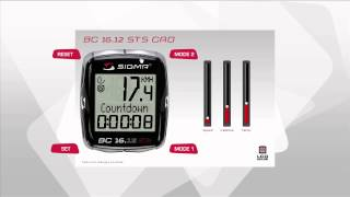 SIGMA SPORT // BC 16.12 STS CAD // Functions (EN)