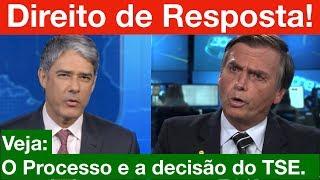 URGENTE! Decidido o Direito de Resposta do Bolsonaro no Jornal Nacional! TSE tomou a decisão.