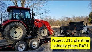 Project 211 Illinois farm Planting 42 acres of Loblolly pines DAY 1