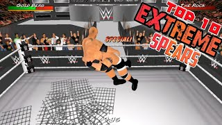 Top 10 Extreme Spears - Roman Reigns - Goldberg | WR3D