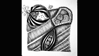 Weekly Zentangle® Tangle Video:  HIBRED Revisited May 31 - June 6, 2016 Volume 1