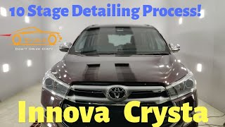 10 Stage Detailing Process for Toyota Innova Crysta