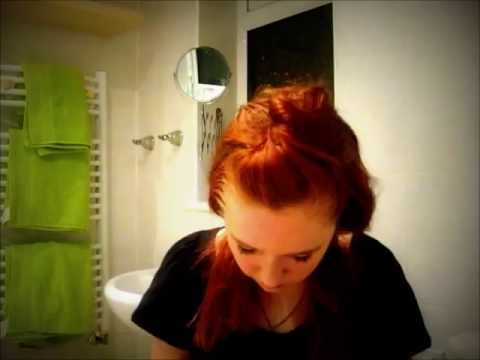 Red Dip-Dye On Ginger Hair Tutorial