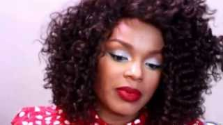 Inexpensive BIG NATURAL HAIR Wig Transformation  - Beshe Synthetic Lace Front Wig Lace-31