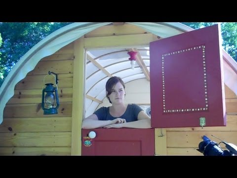 The Whittled Down Caravan- a tour of a tiny house/gypsy wagon/shelter on wheels