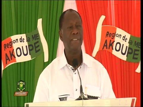 Visite d'Etat Le discours du président Alassane Ouattara à Akoupé