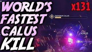WORLD'S FASTEST CALUS KILL! [1 Plate Kill] by Redeem