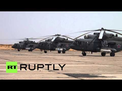 Russia: Air Force attack choppers blast mock-convoy with live missiles