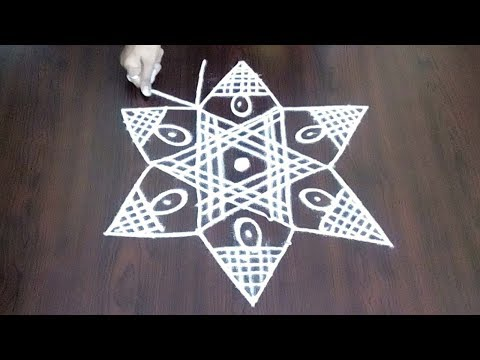 New Creative Star Kolam With 5 x 3 || Star Muggulu   ||  Star Design || Fashion World