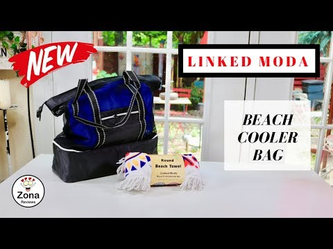 😍 LINKED MODA   ❤️  Beach Cooler Bag & Beach Towel - Review   ✅