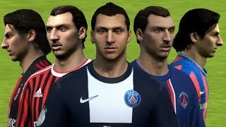 Ibrahimovic from FIFA 04 to 14 Face Rotation and Stats | HD 1080p