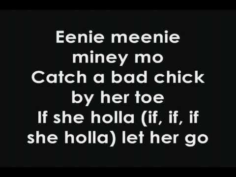 Justin Bieber Ft.sean Kingston- Eenie Meenie (lyrics) video