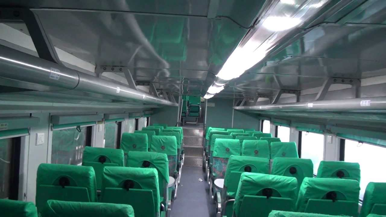 The Shinning Interiors Of Double Decker Express Ac Coach