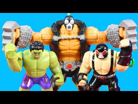 Lego Marvel Super Heroes Hulk Family Smashes Imaginext Bane Family Hulk Smash