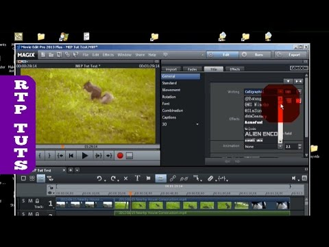 Magix Movie Edit Pro 2013 Tutorial for the Beginner (All steps to make movies)