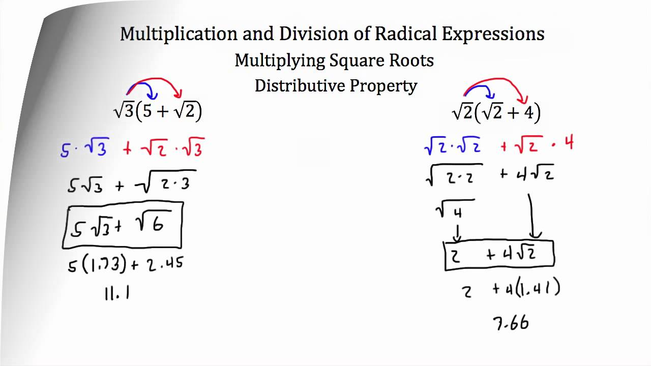 Radical Expressions Examples – Operations with Radical Expressions Worksheet Answers