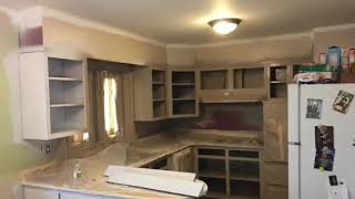 painted walls and cabinets