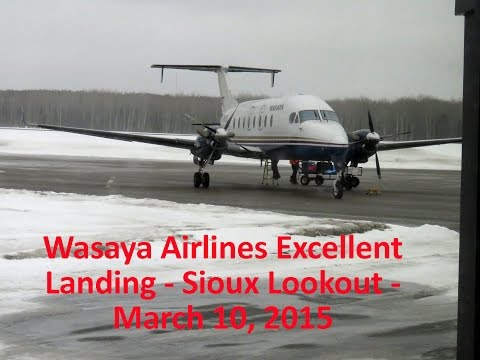 """Landing in Sioux Lookout on March 10, 2015. We were told there would be a """"little"""" turbulence. A white knuckle ride, but the Wasaya pilots were wonderful as usual. We hovered about 5' off the..."""