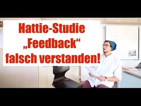 """Hattie-Studie oft FALSCH verstanden von Lehrern! """"Feedback"""" ≠ Feedback...  (Effekt d=0.73)"""