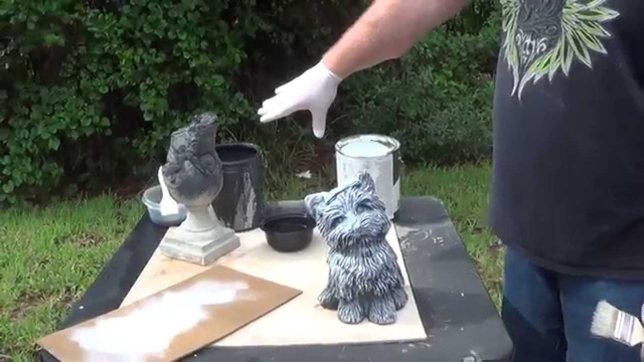 Dog Paints With Brush