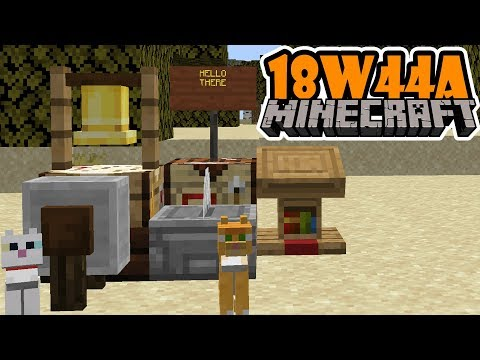 Minecraft 18w44a Snapshot: NEW Cats, Stonecutter, Colored Sign Text!