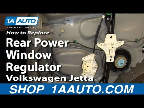 How To Install Replace Rear Power Window Regulator 2005-10 Volkwagen VW Jetta