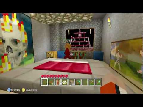 Minecraft Xbox 360 - Cool House Inside a Mountain |My ...