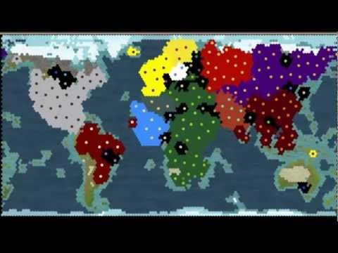 Civilization 5. Online 6 hours battle!!