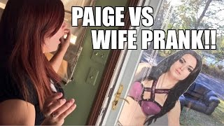 WWE DIVA PAIGE WANTS TO WRESTLE WIFE PRANK!