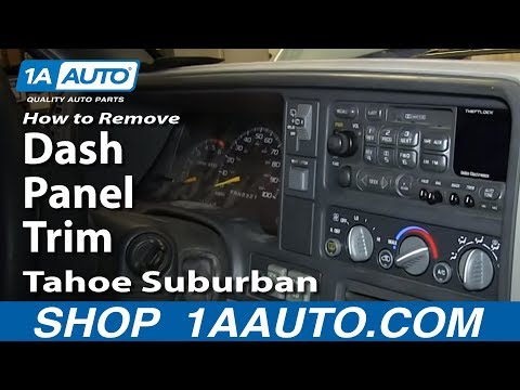 How To Remove Install Dash Panel Trim 1996-99 Chevy K1500 Tahoe Suburban