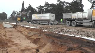 Volvo truck tipping crushed when building outside the city in 2014
