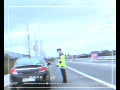 Hysterical video of Garda pulling over car.