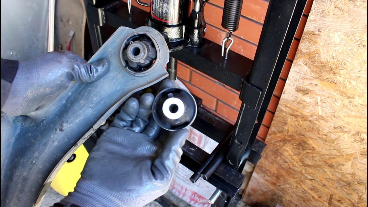 Замена сайлентблока передних рычагов ниссан своими руками 996