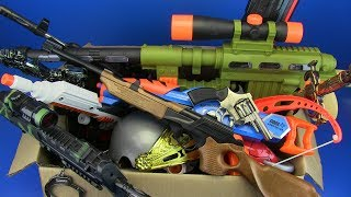 Box of Toys - Box Full of Gun Toys ! Kids Toys - Video for Kids