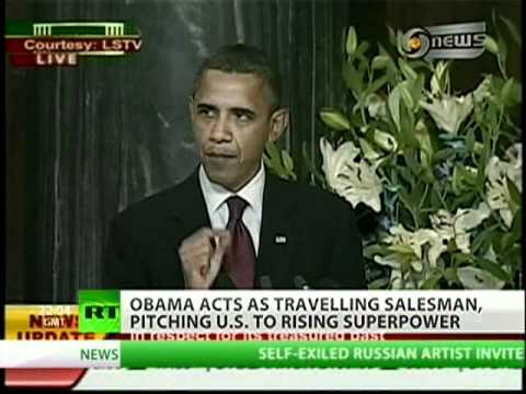 President Obama sells America to Indians