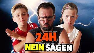 1 Tag lang NEIN SAGEN CHALLENGE - Schön die Kinder reinlegen 😂 24h NEIN SAGEN - Lulu & Leon