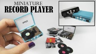 DIY Miniature: Retro Record Player