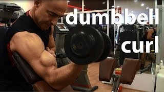 Biceps Geliştirme *English Subtitles* (Incline Bench Dumbbell Curl, Dumbbell Preacher Curl)