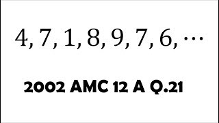 AMC 12: Summing Up a Sequence Until 10,000 (2002 A #21)