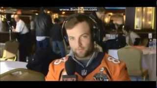 Wes Welker Super Bowl Interview Walk Off