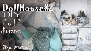DIY: Dollhouse#2 How to make shabby chic room for doll Pullip, Monster High, Blythe