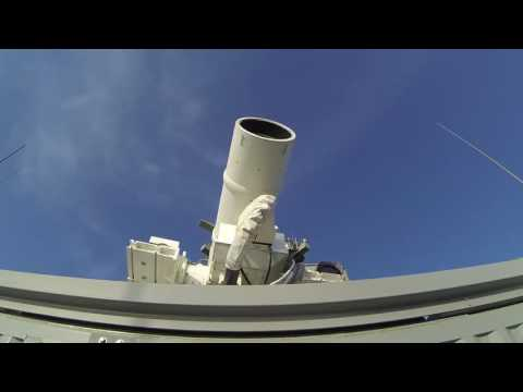 Laser Weapon System LaWS demonstration aboard USS Ponce