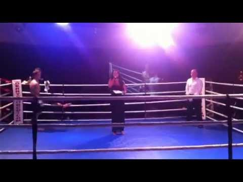 Olesha Karringten announcing at Gerry Gianco's Fight Night