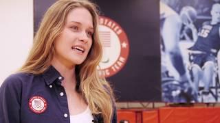 Olympic Gold Medalist Olivia Smoliga Visits Colorado Springs
