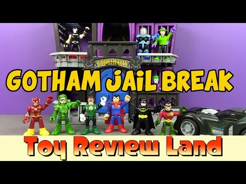 Imaginext Gotham City Jail Break! With Batman And Robin, Bane, The Joker And More!
