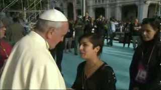 Romereports Vaticano Videos del Papa Francisco Homilias - 22/09/2013 Llegada del Papa Francisco a Cagliari