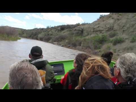 Jet Boat Colorado tour on the river in the Debeque Canyon by Lucas Media Productions