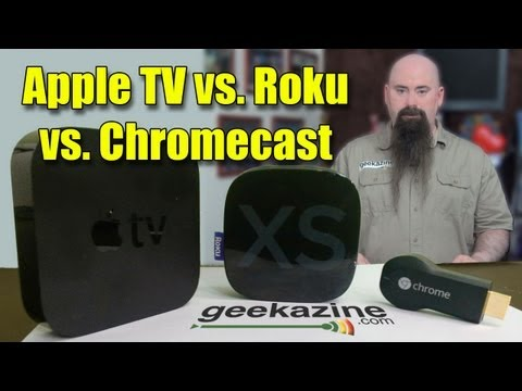 Chromecast vs. Apple TV vs. Roku Throwdown