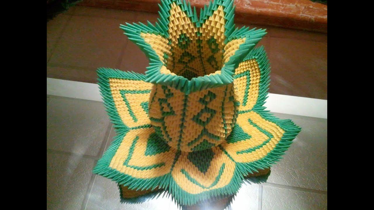 модульное оригами схема корзинка фруктами
