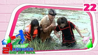 24 HOURS KIDS TRAVELLING|24HDN #22 FULL|Ha Mi paddles in shallow water to pluck lotus with Gia Khiem